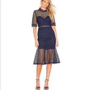 NWT Bardot Fiona Mesh blue dress size 6
